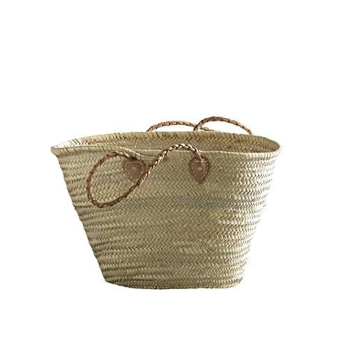 丹麥tineKhome 百褶背帶棕櫚葉編織包 (長55公分)