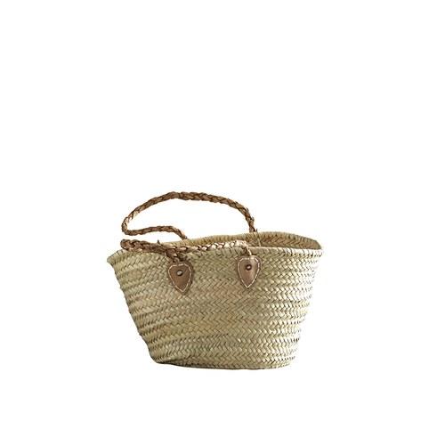 丹麥tineKhome 百褶背帶棕櫚葉編織包 (長45公分)