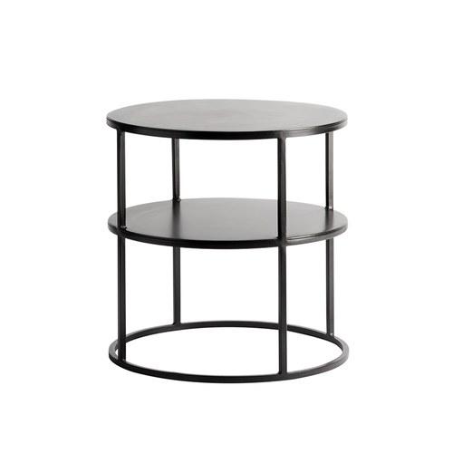 丹麥tineKhome 墨黑色金屬雙層圓形邊桌