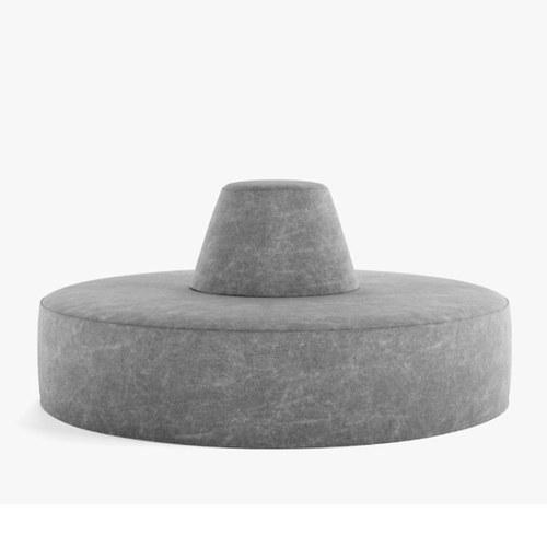 丹麥tineKhome 和風圓形懶骨頭坐墊 (石灰)