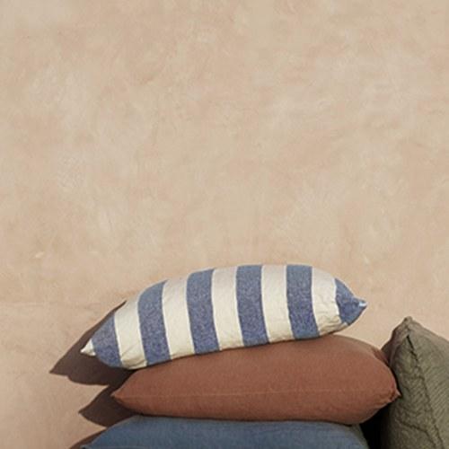 丹麥tineKhome 簡約條紋方形靠枕 (洋藍、長50公分)