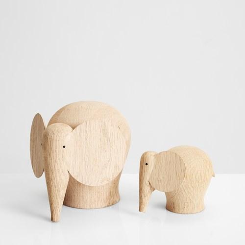 丹麥WOUD NUNU大象原木擺飾 (高10公分)