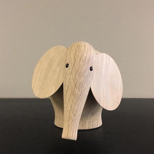 丹麥WOUD NUNU大象原木擺飾 (高16公分)
