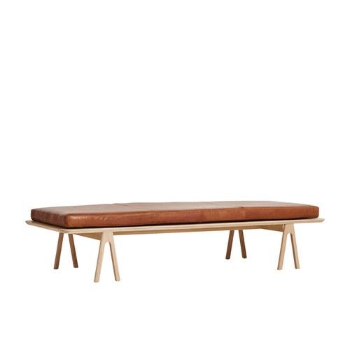 丹麥WOUD LEVEL皮革長椅凳 (原木)