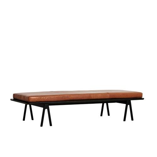 丹麥WOUD LEVEL皮革長椅凳 (黑)