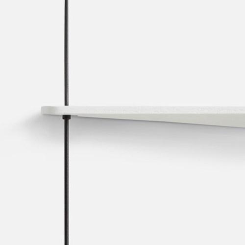 丹麥WOUD STEDGE仛寂感壁掛置物架(白、橡木)