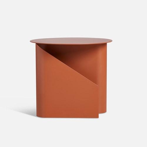 丹麥WOUD SENTRUM金屬收納邊桌 (橙紅)