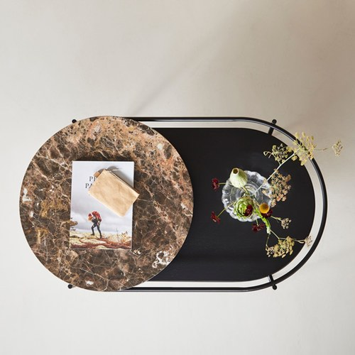 丹麥WOUD VERDE大理石咖啡桌 (棕色)