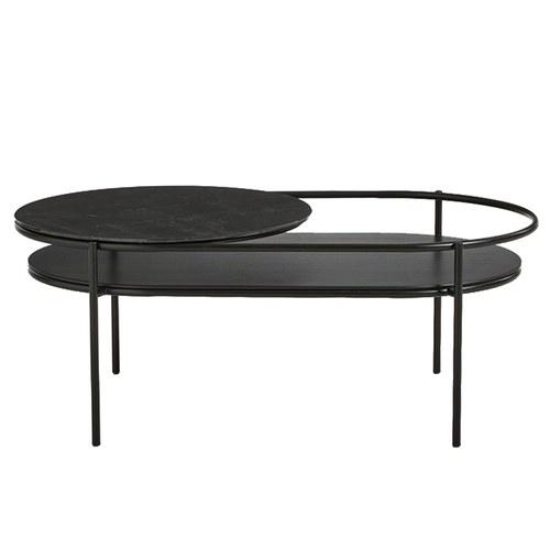 丹麥WOUD VERDE大理石咖啡桌 (黑色)
