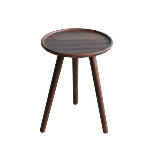 波蘭Sits 三腳支撐核桃木圓形邊桌 (直徑40公分)