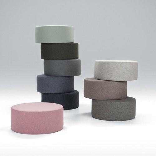 波蘭Sits 圓形布面沙發椅凳 (薄荷綠)