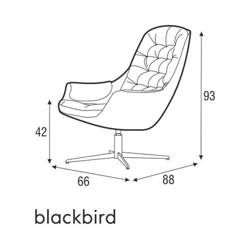 波蘭Sits 飛躍系列皮革單椅 (黑)