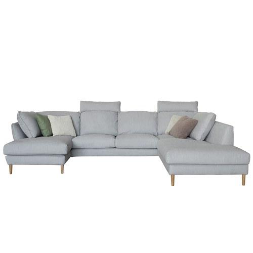 波蘭Sits Stella灑落的片刻日光大L型沙發 (淺灰、寬328公分)