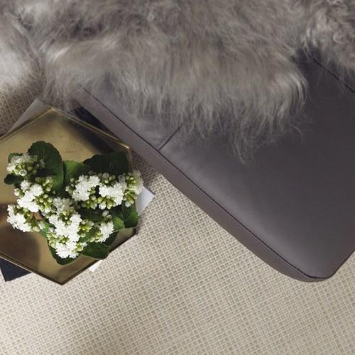 波蘭Sits 縫釦三人沙發附軟椅凳 (深棕)