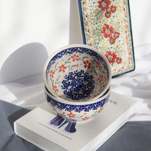 波蘭 Zaklady 陽光花圈陶瓷圓形餐碗 (直徑13公分)