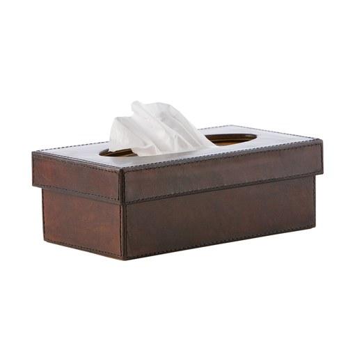 芬蘭Balmuir皮革家飾 紙巾盒 (深咖啡)