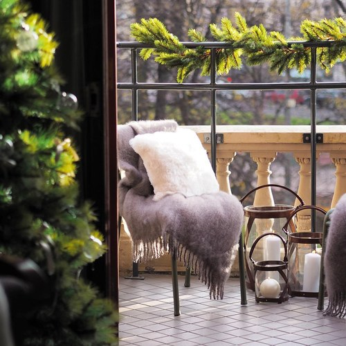 芬蘭Balmuir皮革家飾 交叉編織燭台 (琥珀、高30公分)