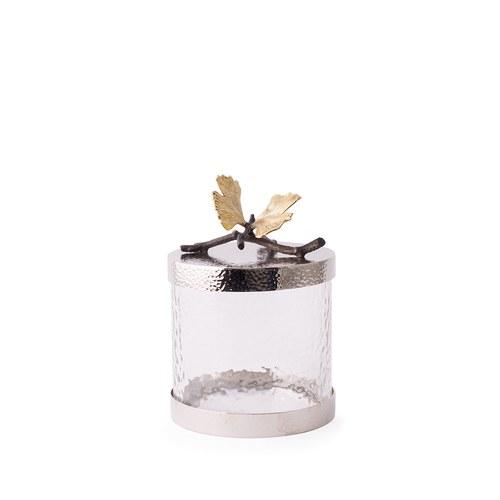 美國MichaelAram工藝飾品 銀杏蝴蝶系列玻璃收納罐 (高16.5公分)