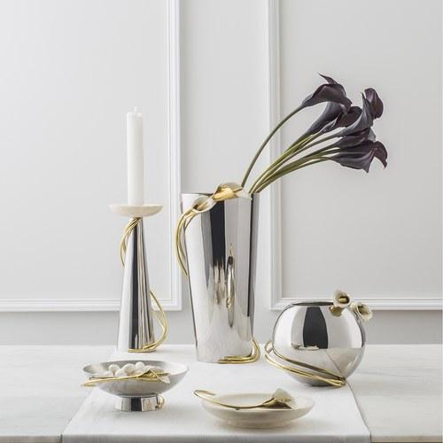 美國MichaelAram工藝飾品 幸福海芋系列大理石托盤