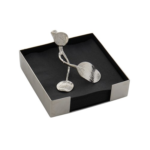 美國MichaelAram工藝飾品 永恆銀葉系列餐巾架