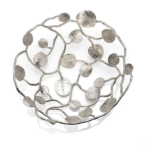 美國MichaelAram工藝飾品 永恆銀葉系列造型托盤
