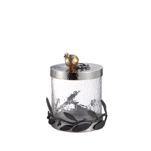 美國MichaelAram工藝飾品 鮮嫩石榴系列玻璃收納罐 (高12.7公分)