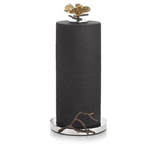 美國MichaelAram工藝飾品 銀杏蝴蝶系列捲筒紙巾架