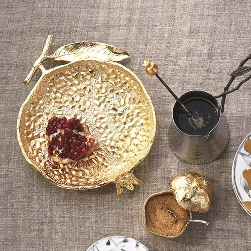美國Michael Aram 鮮嫩石榴造型金色托盤