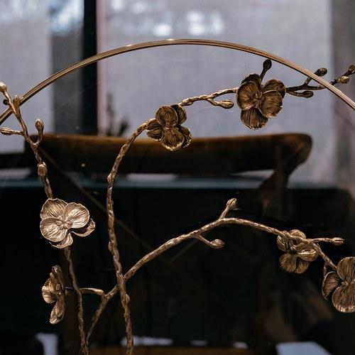 美國Michael Aram 30週年紀念款 黑蘭花花窗月拱門擺飾品