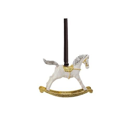 美國Michael Aram 金色旋轉木馬耶誕吊飾