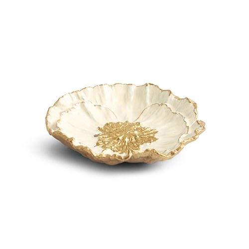 美國MichaelAram 瀲灩銀蓮花造型飾品盤