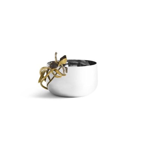 美國MichaelAram 黑色鳶尾花堅果點心碗 (直徑9.5公分)