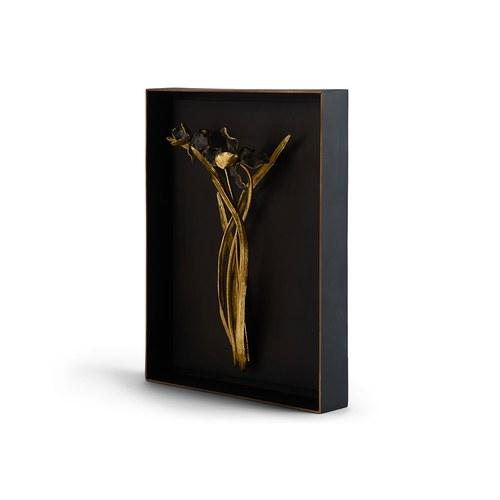 美國MichaelAram 黑色鳶尾花立體壁飾