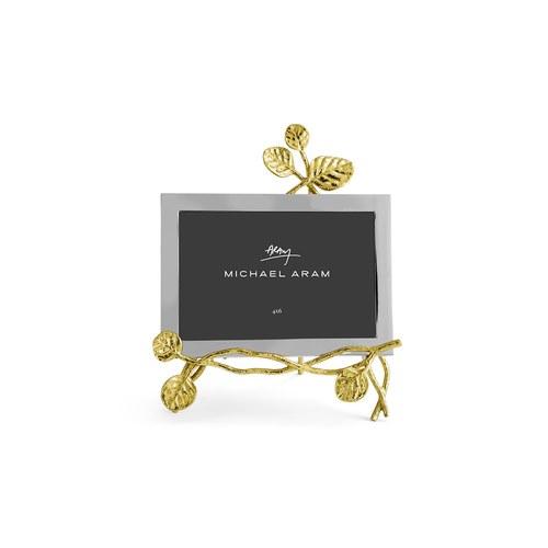 美國Michael Aram 金色永恆銀葉裝飾相框 (4x6吋)
