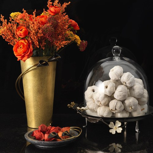 美國Michael Aram 午夜海芋系列大理石托盤
