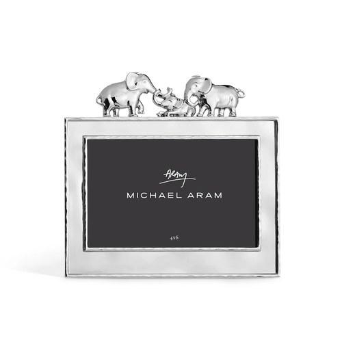 美國Michael Aram 溫馨家庭大象系列相框架(銀、4x6吋)
