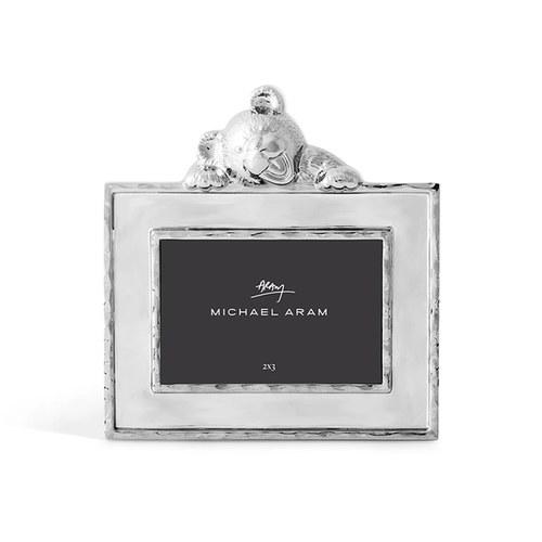 美國Michael Aram 泰迪熊系列相框架(銀、2x3吋)