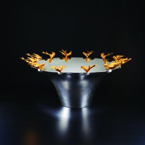 美國NimaOberoi 和平之鴿藝術桌飾盤
