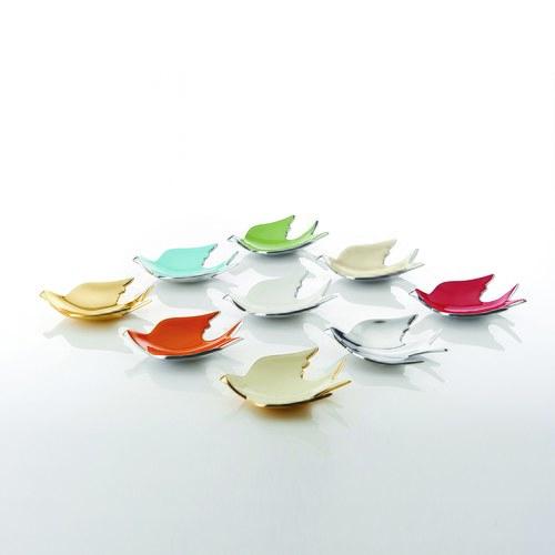 美國NimaOberoi 和平之鴿飾品盤 (橘、長16.5公分)