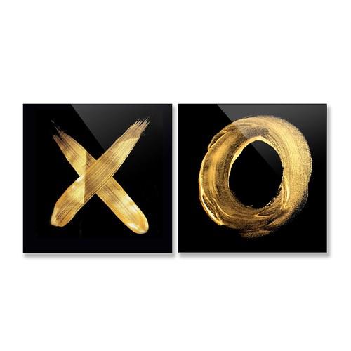 美國TwoPalms掛畫組 XO (玻璃背板、長91公分)