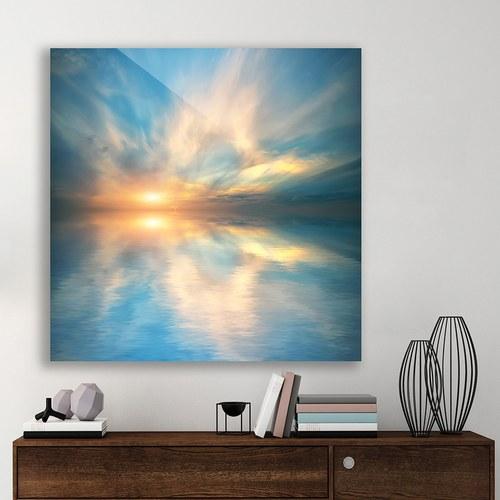 美國TwoPalms藝術掛畫 Heavenly Burst (鋁製背板、長76公分)