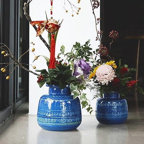 義大利Bitossi Riminiblu墨水罐造型花器(高16公分)