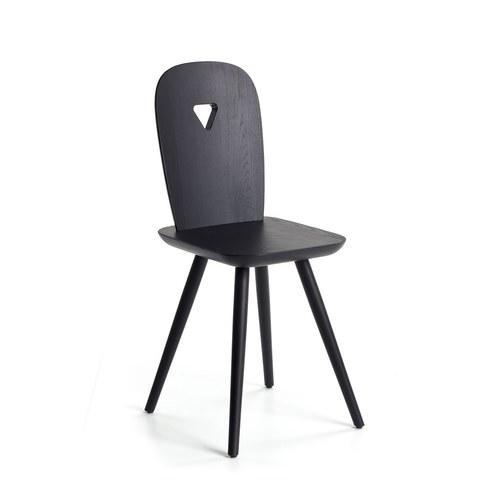 義大利CASAMANIA LaDina 簍空三角形單椅 (黑)