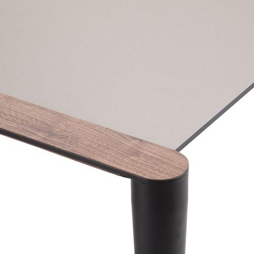 義大利HORM BOLERO極致奈米科技極簡錐形腳餐桌 (黑、長172~272公分)
