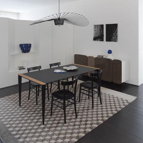 義大利HORM BOLERO極致奈米科技極簡錐形腳餐桌 (黑、長216公分)