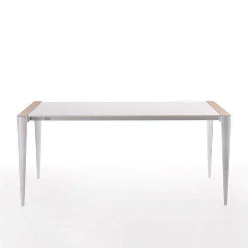 義大利HORM BOLERO極致奈米科技極簡錐形腳餐桌 (白、長196~296公分)