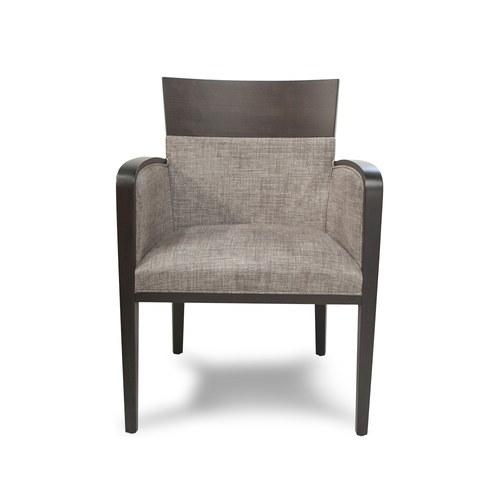 義大利 Montbel Logica系列經典實木扶手單椅/山毛櫸木/沉穩灰皮革