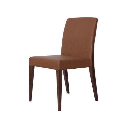 義大利 Montbel Charme 經典實木單椅/山毛櫸木/棕色皮革