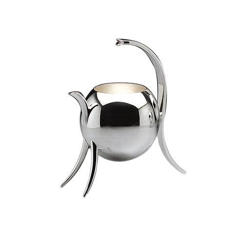 義大利MESA 月暈圓球銀質牛奶壺