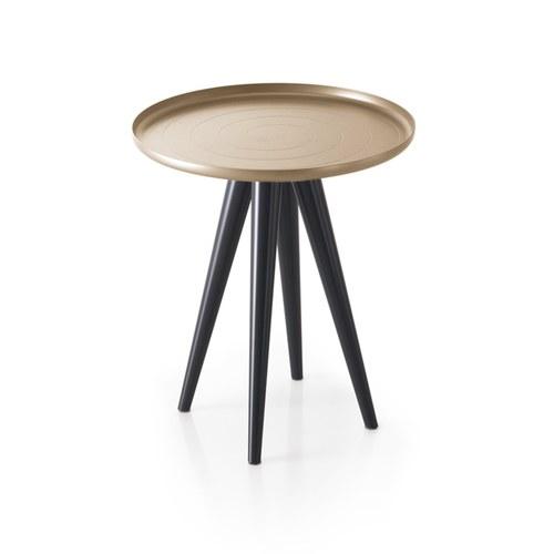 義大利OliverB OUTLINE咖啡桌 (香檳金、直徑45公分)